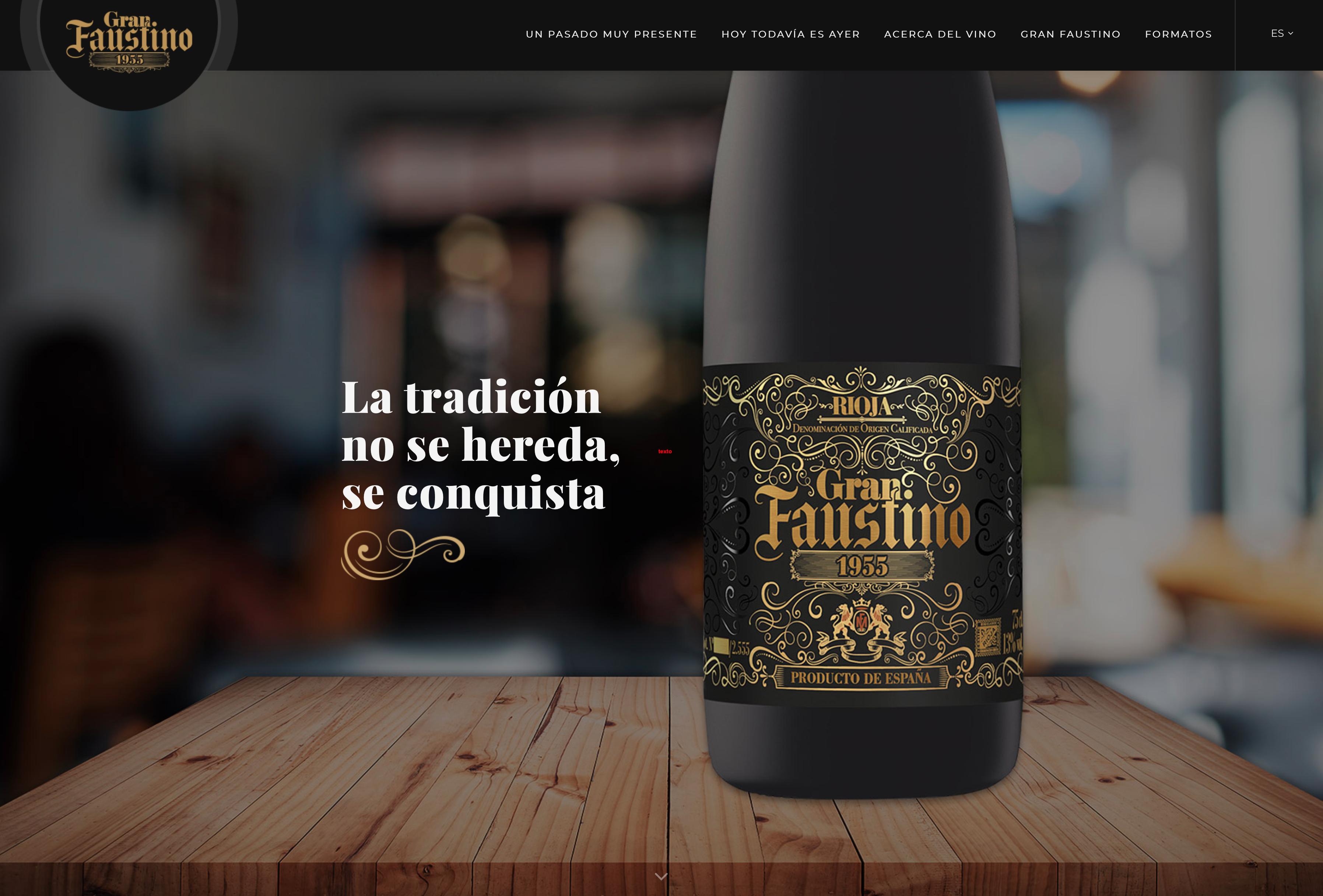 Web Bodegas Faustino