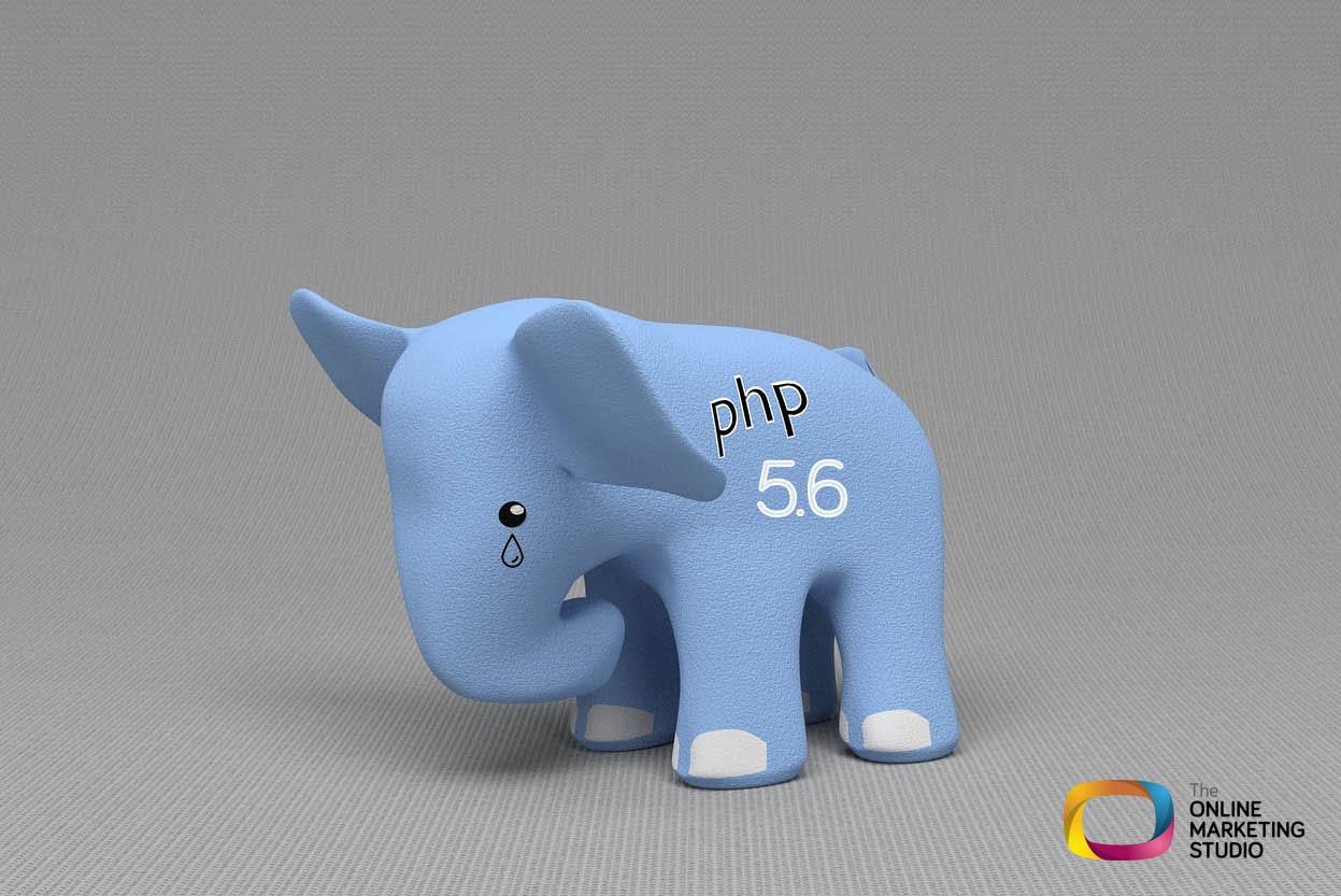 Mascota de PHP 5.6 llorando