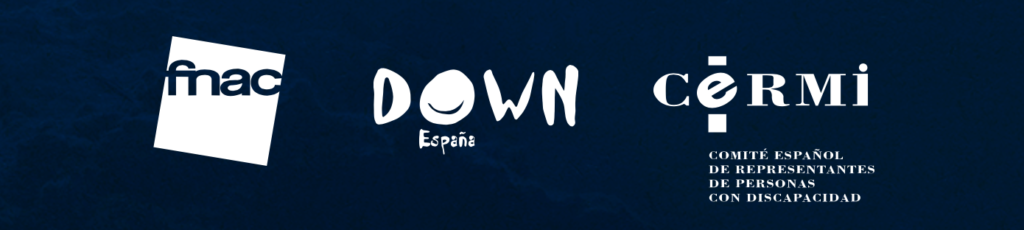 Logotipos de Down España, FNAC y Cerni