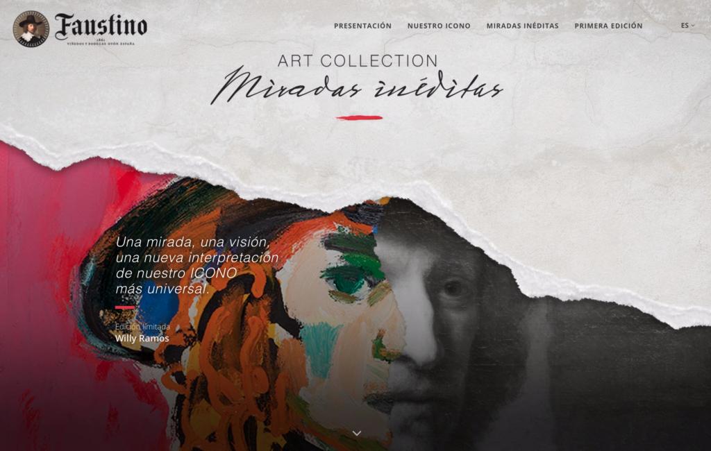 Web Faustino Art Collection: Willy Ramos, para Bodegas Faustino